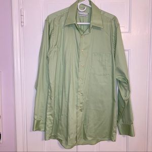 Geoffrey Beene Green Dress shirt